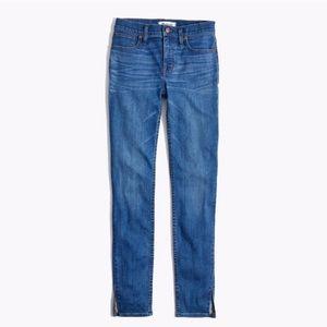 Madewell High Rise Skinny Split hem jeans